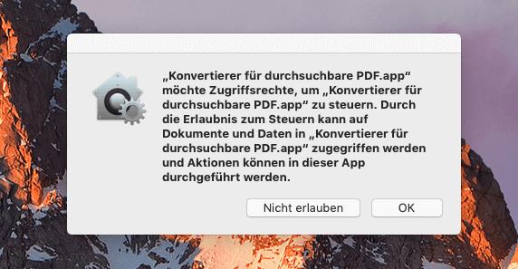 Man sollte drauf achten, immer die letzte Version von Software zu nutzen, wenn man auf ein neues macOS umsteigt.