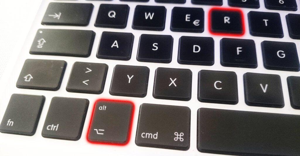 Die Registered Trademark Tastenkombination am Mac ist recht einfach: Alt und R. Dann erscheint dieses Zeichen: ®
