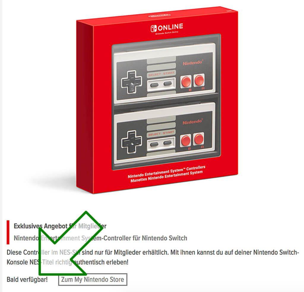 Die Nintendo Switch NES Controller kaufen - das geht zum Start von Nintendo Switch Online noch nicht. Aber in Bälde ;)