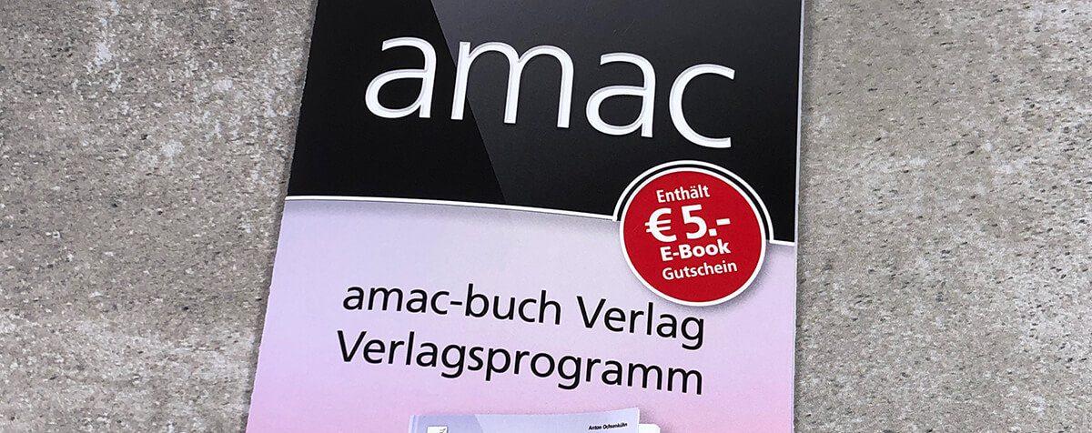 Das Verlagsprogramm 2019 vom amac-buch Verlag.