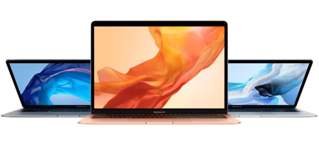Das MacBook Air 2018 gibt es in drei Farben: Gold, Silber und Space Grau.