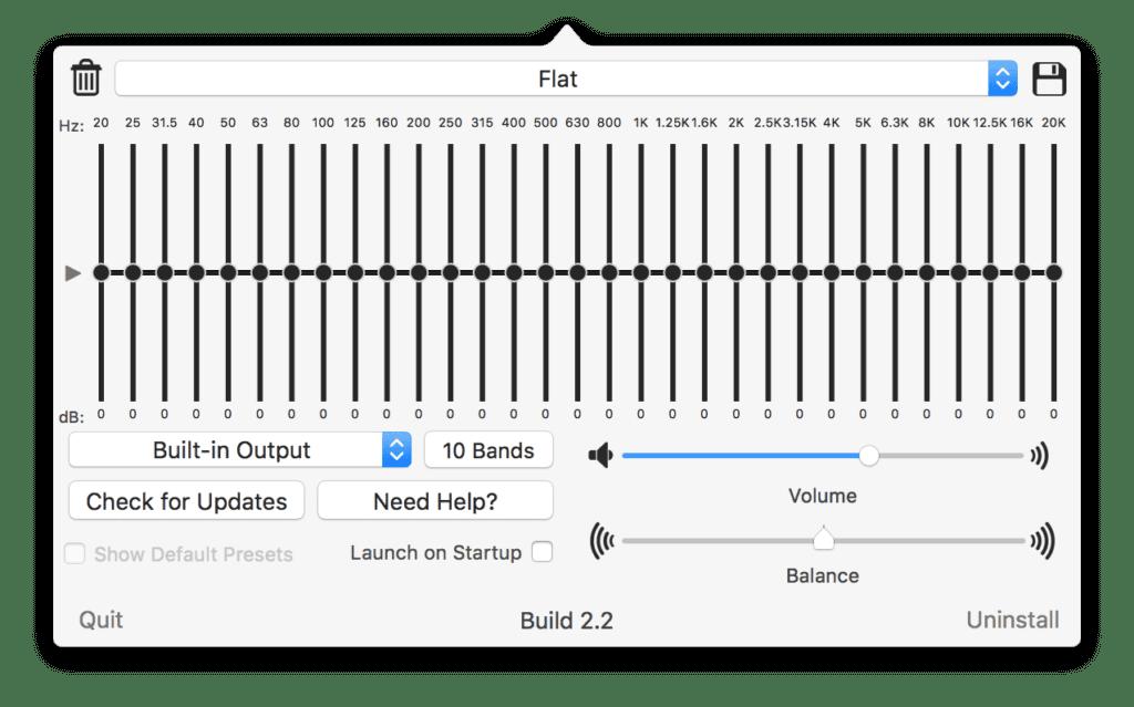 Eine super-genaue Audio-Justierung erreicht ihr mit der Verwendung von 31 EQ-Bändern.