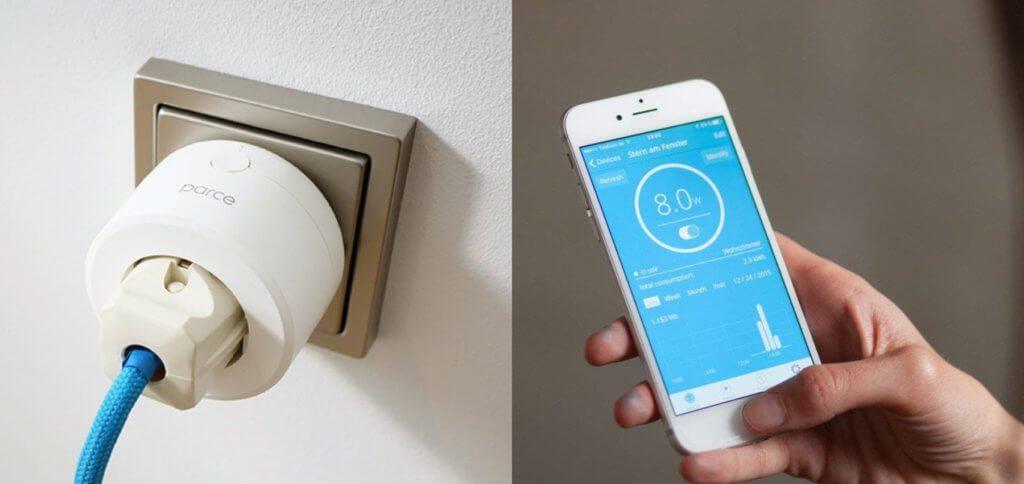 Parce Plus ist ein HomeKit-Adapter für die Steckdose, der das angeschlossene Gerät ins Smart Home einbringt und per Apple Home App sowie Siri steuerbar macht. Die Verbrauchsübersicht gibt's per App.
