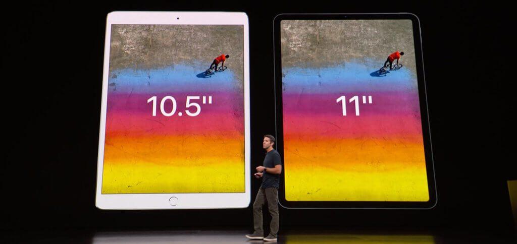 """Das neue """"kleine"""" Apple iPad Pro ist genauso groß wie das """"alte"""" Modell, bietet aber ein größeres Display!"""