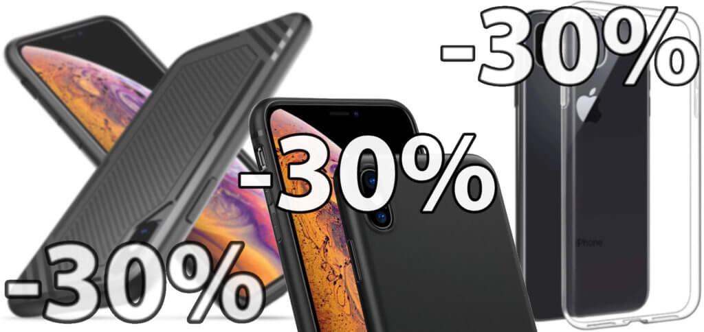 Mit dem hier aufgeführten Gutschein-Code könnt ihr iPhone Xs Max Hüllen billiger kaufen - mit 30% Rabatt. Angeboten werden Hülle und Coupon jeweils von EasyAcc auf Amazon.