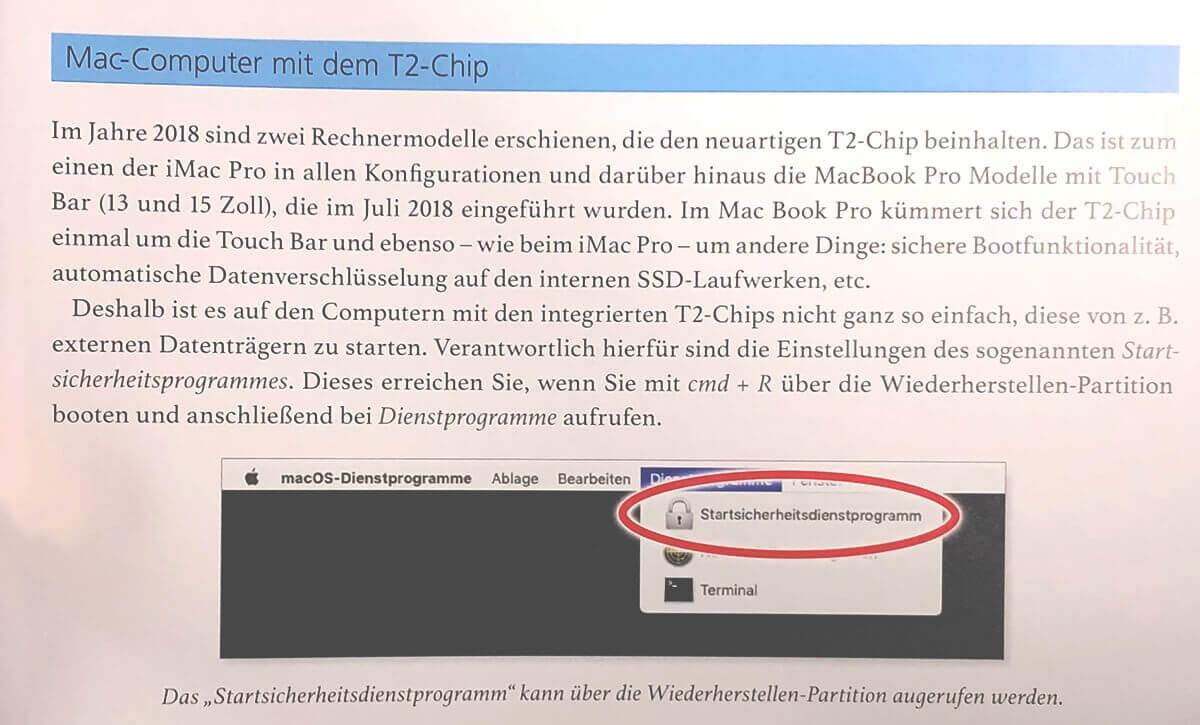 Auch der T2-Chip, der im aktuellen iMac Pro und in Touch Bar MacBook Pro Modellen Verwendung findet, hat bereits ein Kapitel im Buch erhalten.