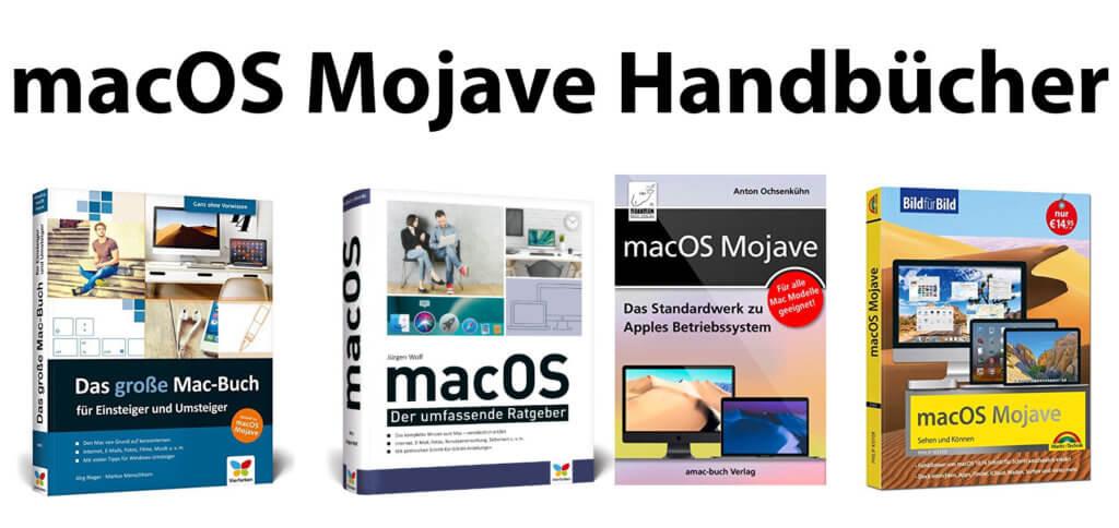 Ihr sucht ein macOS Mojave Handbuch? Eine Auswahl mit Anleitungen für macOS 10.14 findet ihr hier. Die Mojave Handbücher stammen alle von fachlich kompetenten Autoren.