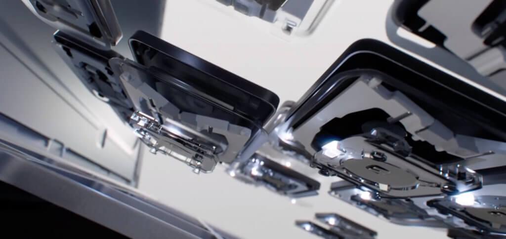 Die Ansicht der Butterfly-Tasten mit individueller LED-Beleuchtung von unten. Hoffentlich sind diese Tasten krümelresistenter als die von anderen aktuellen MacBooks.