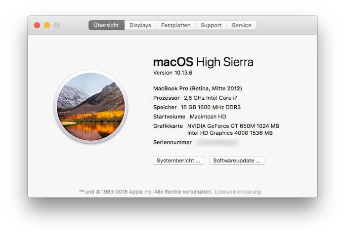 """""""Über diesen Mac"""""""