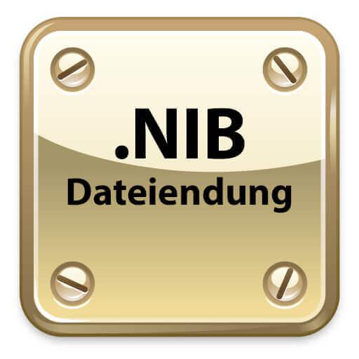 Die Dateiendung .nib steht für NeXT Interface Builder.