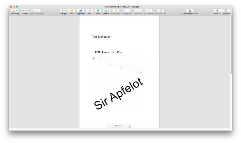 Das Konvertieren von PDFs in Dokumente für die Textverarbeitung (Pages, Word, etc.) klappt solala, aber ausreichend um den erkannten Text weiter zu verarbeiten.