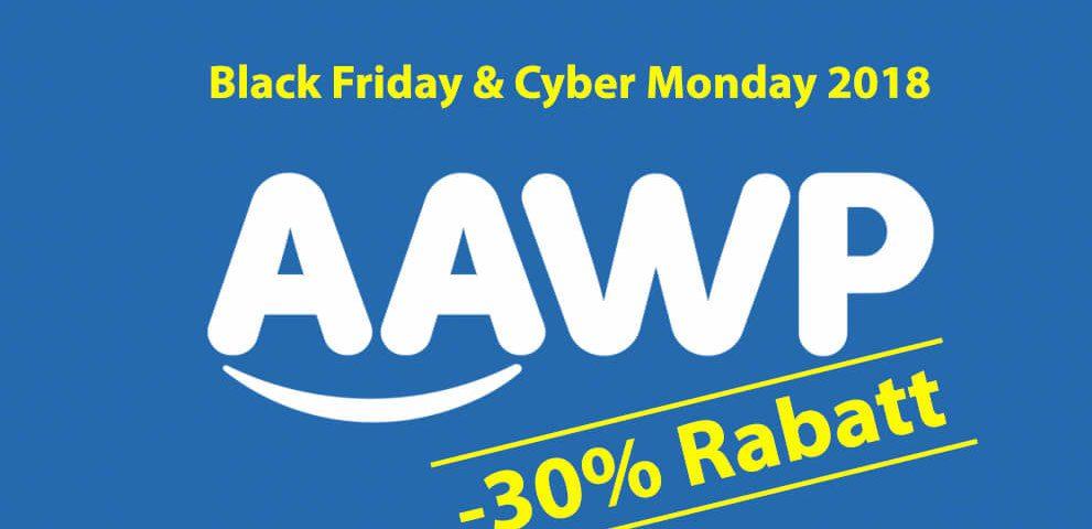 Das AAWP Plugin für Wordpress mit 30% Rabatt am Cyber Wochenende 2018.