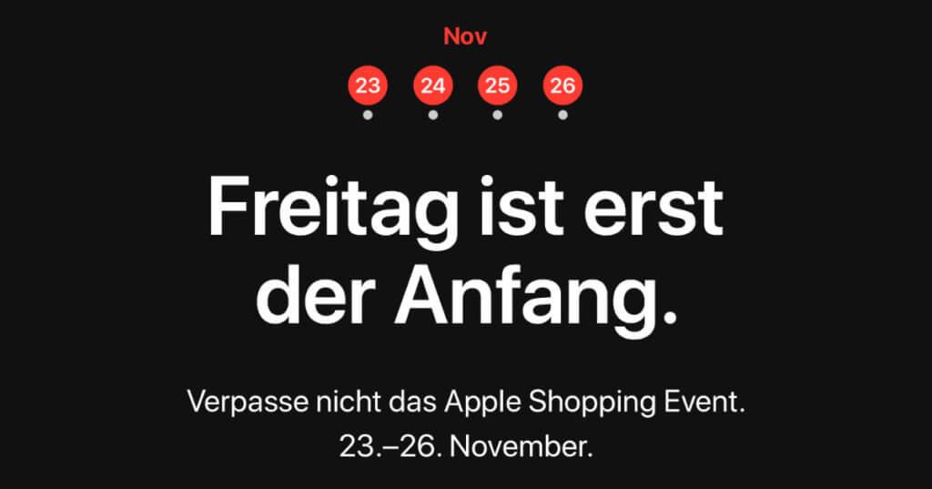 """Apple kündigt sein """"Shopping Event"""" zum Black Friday 2018 und die darauf folgenden Tage an."""