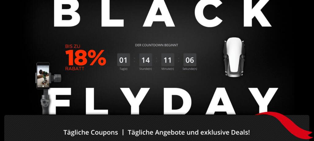Der DJI Black Flyday 2018 sorgt dafür, dass ihr eure neue Drohne in der Cyber-Monday-Woche billiger kaufen könnt. Informationen und den Link zur Aktionsseite findet ihr hier.