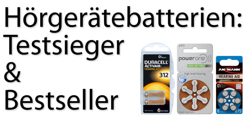 Hearing aid batteries tested by Stiftung Warentest - here you will find the test winners for type 10, 312, 13 and the bestsellers of size 675. This is how you can find the right battery for your hearing aid with the best test results.