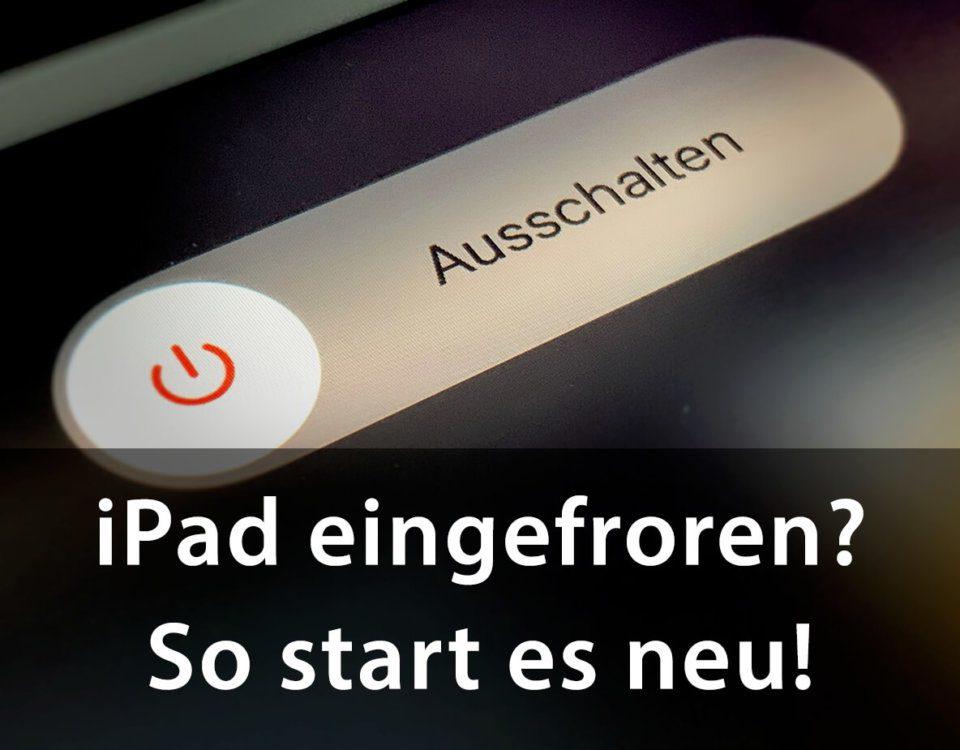 Hier mein Tipp, wie man ein eingefrorenes iPad wieder zum Leben erweckt.