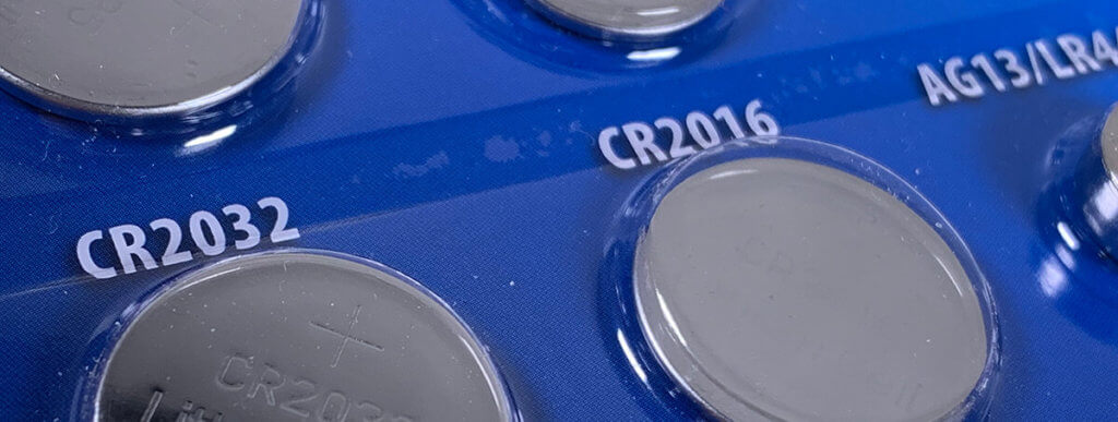 Foto Knopfzellen in Blister-Verpackung