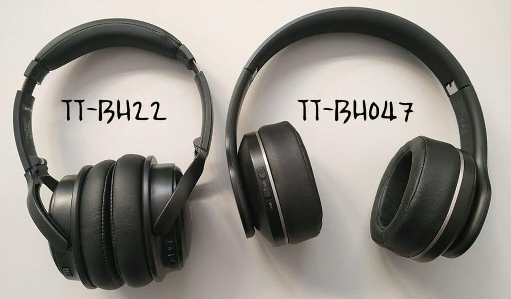 Der Vergleich von TaoTronics TT-BH22 und TaoTronics TT-BH-047 im Bild.
