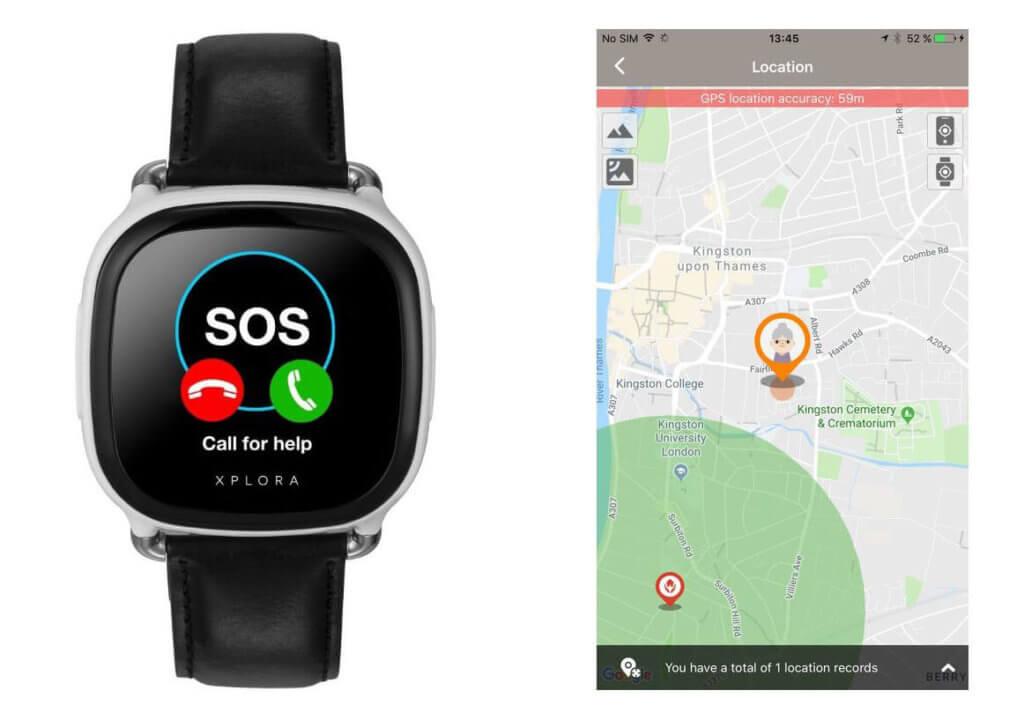 Die Smartwatch XPLORA Care bietet viele Funktionen, die besonders für Senioren nützlich sind (Foto: Smartwatch.de)..
