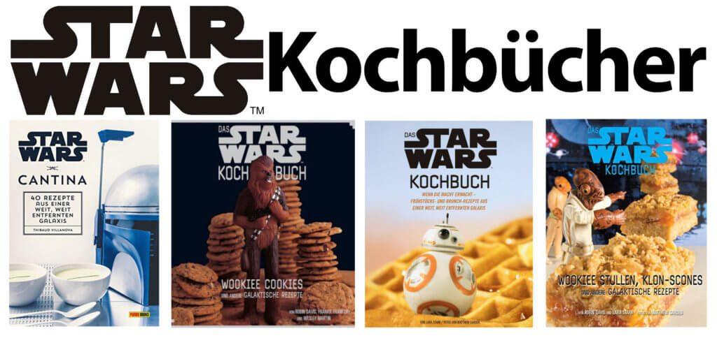 Ihr sucht das richtige Star Wars Rezept oder wollt ein Star Wars Kochbuch zu Weihnachten verschenken? Hier findet ihr die Koch- und Backbuch-Auswahl aus einer weit, weit entfernten Galaxis!