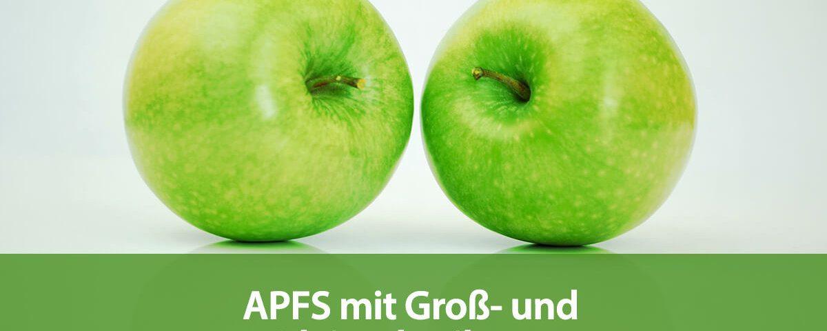 APFS mit Groß- und Kleinschreibung