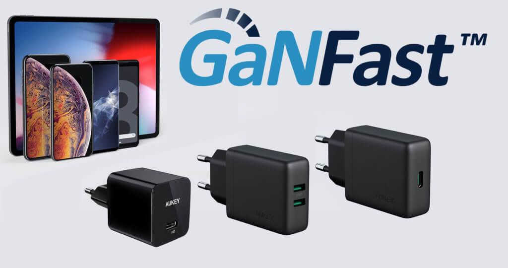 AUKEY GaNFast Ladegeräte sind klein, leicht, aber durch GaN leistungsstark. Hier gibt es alle Informationen zum Marktstart. Bilderquelle: AUKEY