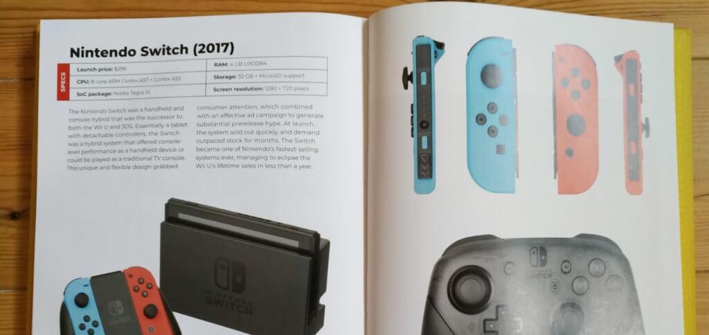 "Der Nintendo Switch werden in ""The Game Console: A Photographic History from Atari to Xbox"" gleich vier Seiten gewidmet."