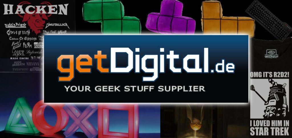 getDigital ist ein super Onlineshop für Nerds und Geeks. Der Geek Shop aus Kiel hat nicht nur tolle Produkte, sondern auch schnellen Versand und Support. Bilderquelle: getDigital.de