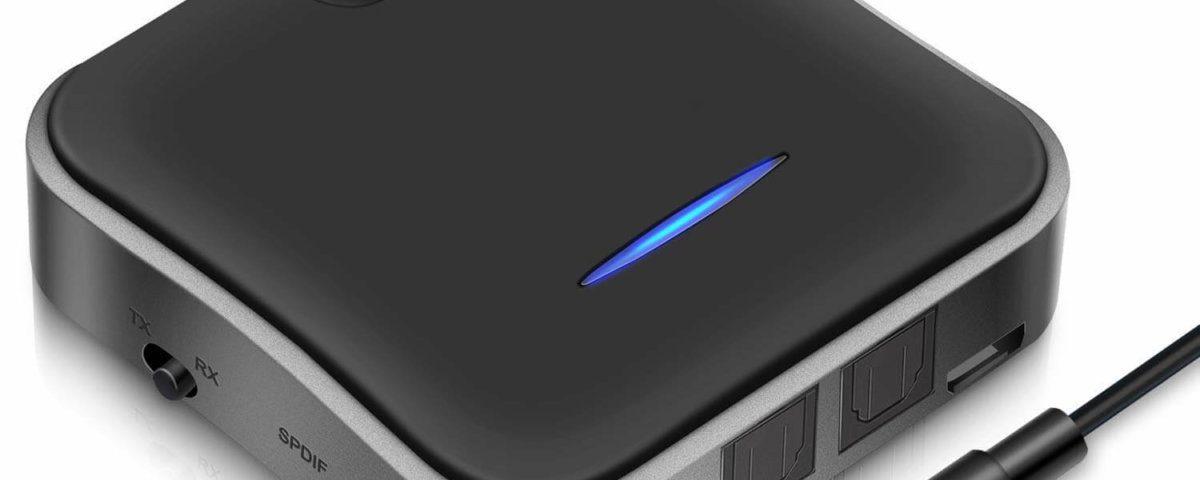 Der HiGoing Bluetooth 5.0 Adapter bietet als einer der wenigen Geräte sowohl optische wie auch analoge Ein- und Ausgänge.