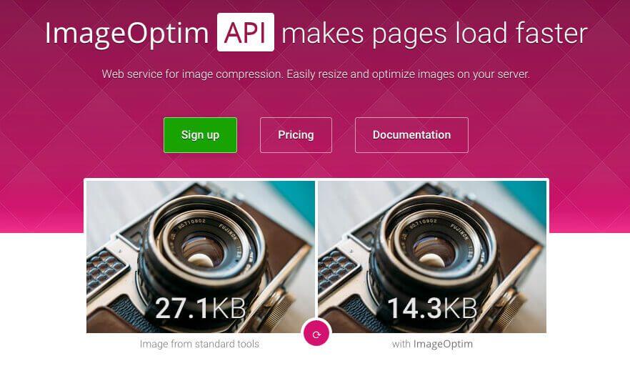 Imageoptim bietet auch einen kostenpflichtigen Webservice, über den man große Mengen an Fotos durch deren Server komprimieren lassen kann.