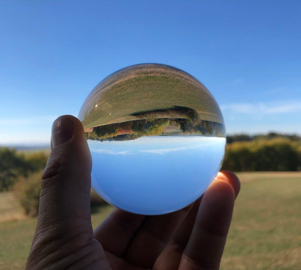 Auf einer Wanderung entstanden: Blauer Himmel sieht fast immer gut aus.
