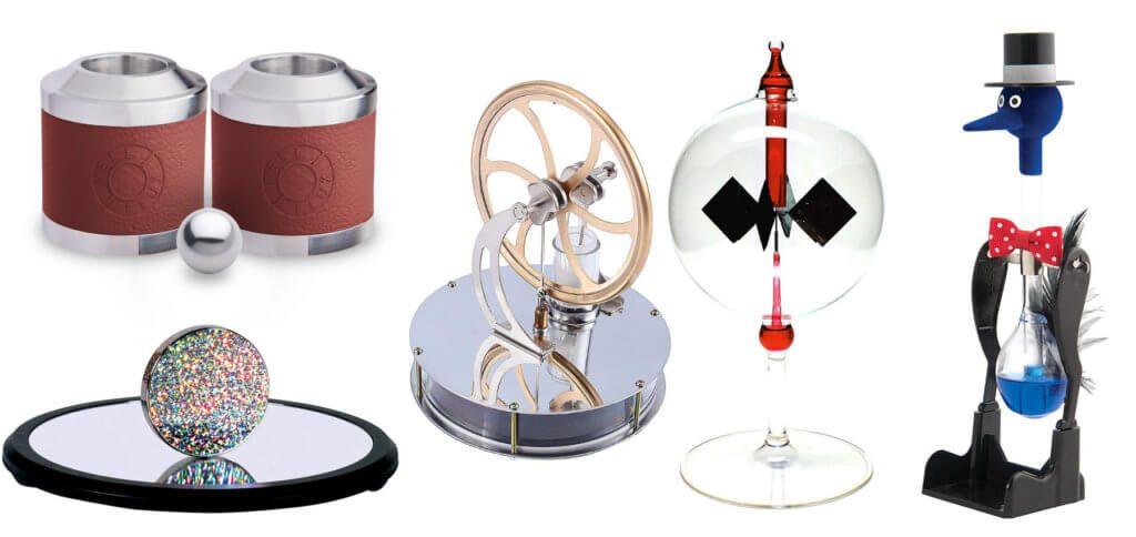 Faszinierendes Physik-Spielzeug für Kinder und Erwachsene - im ersten Teil der Artikelreihe stelle ich euch die Euler-Scheibe, Feel Flux, den Stirlingmotor, die Lichtmühle und den Schluckspecht vor.