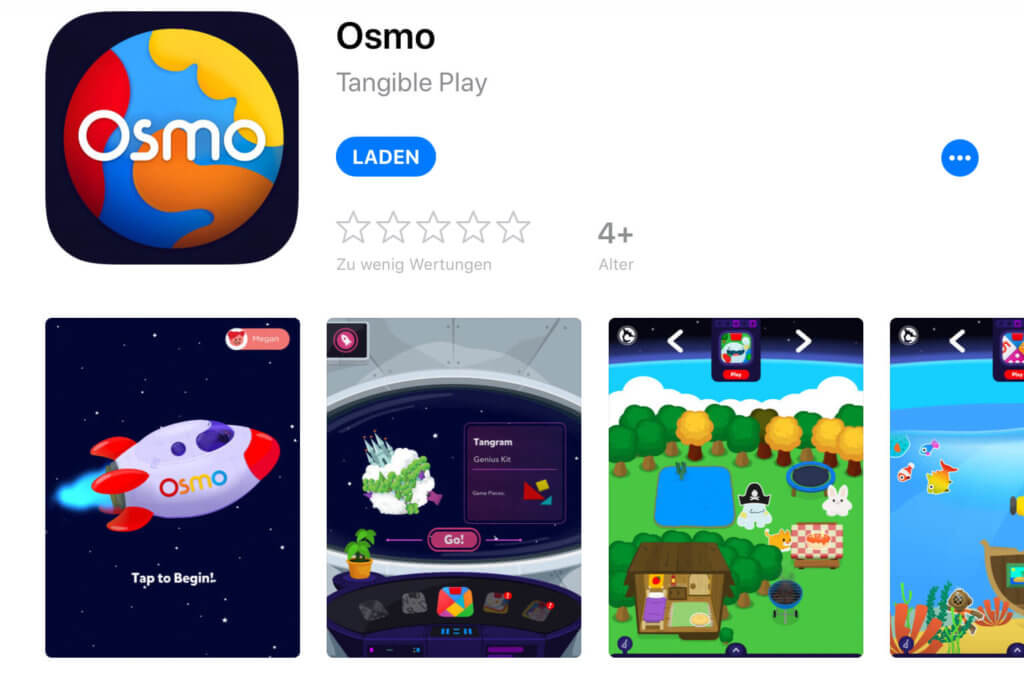 Die Osmo-Hauptapp ist die Schaltzentrale, über die man die ganzen einzelnen Spiele von Osmo startet.