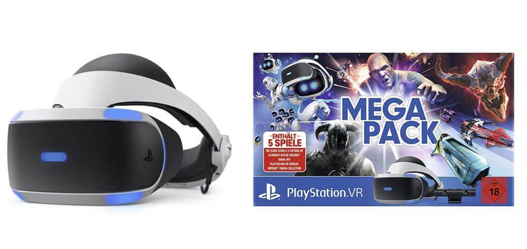 Das PlayStation Virtual Reality Mega Pack von Sony bringt euch das Virtual-Reality-Headset für die Konsole sowie 5 der besten VR-Spiele im Bundle!