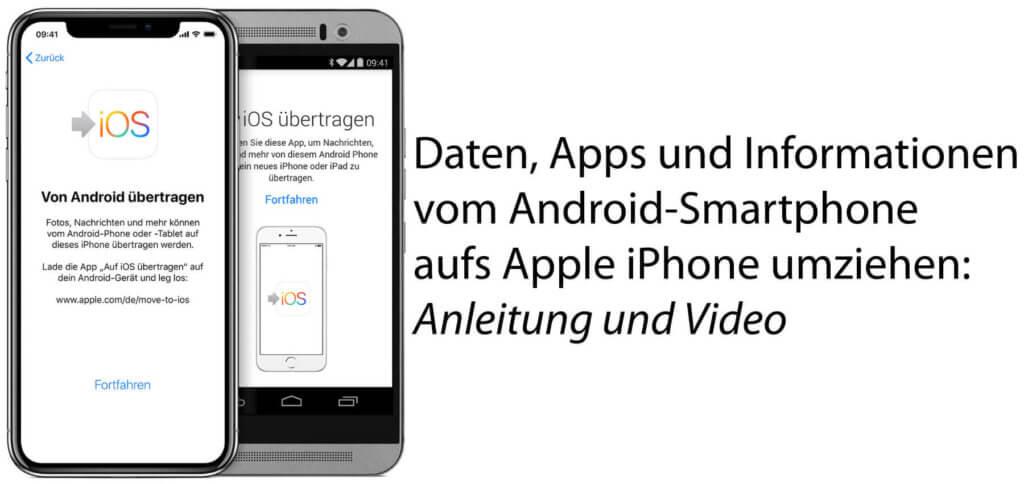 Smartphone-Wechsel: Um Daten bequem von Android zu iOS auf dem iPhone umziehen zu können, nutzt am besten die Move to iOS App sowie die hier aufgezeigten Anleitungen.