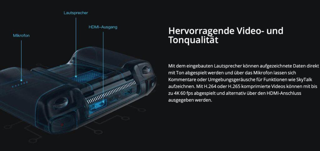 Videos empfangen, speichern, bearbeiten und wiedergeben - alles mit einem Gerät und sogar über HDMI auf größeren Displays.