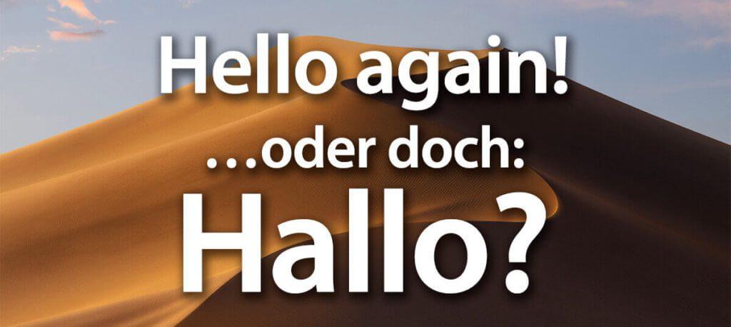 Wenn der Mac trotz deutscher Sprachauswahl manchmal wieder ins Englisch verfällt, gibt es einen Trick.