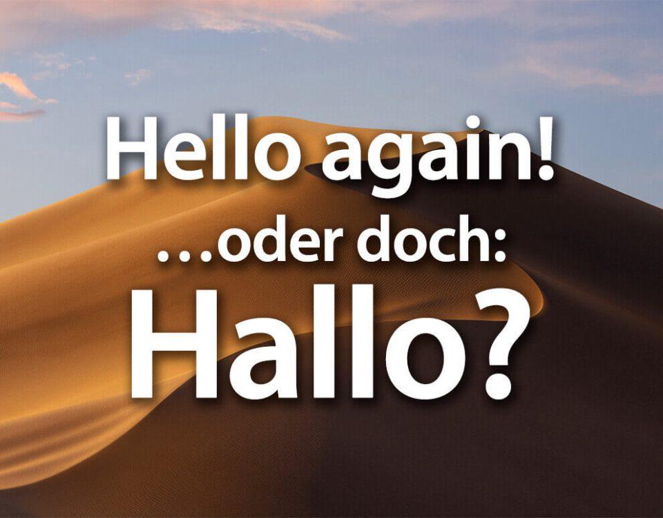 Hello again Beitragsfoto