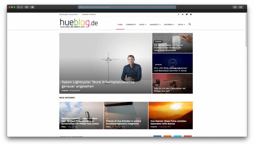 Der Hueblog von Appgefahren.de - News, Ratgeber und Antworten auf Fragen zu Philips Hue. 2019