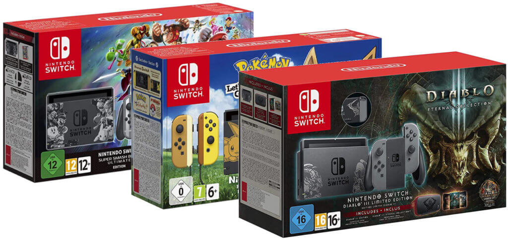 Als Bundle mit Spiel und Zubehör: die Nintendo Switch bei Amazon kaufen geht auch in dieser Art. Nintendo Switch Konsole bei Amazon.de