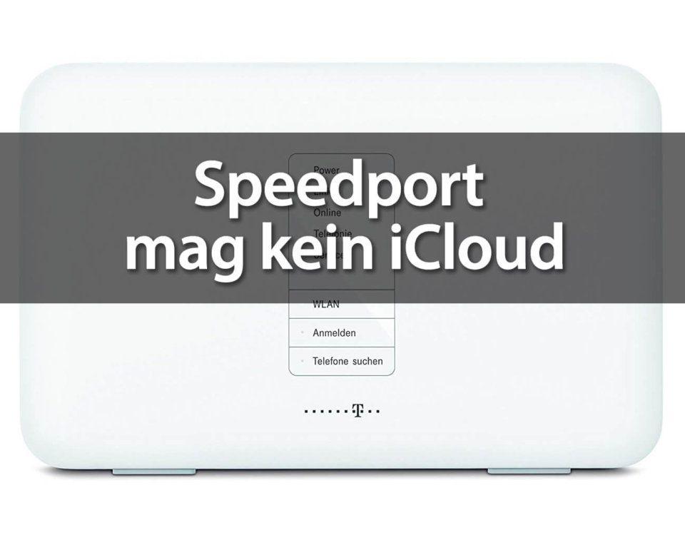 Speedport verweigert Apple Mail den Versand von Mails über iCloud.com