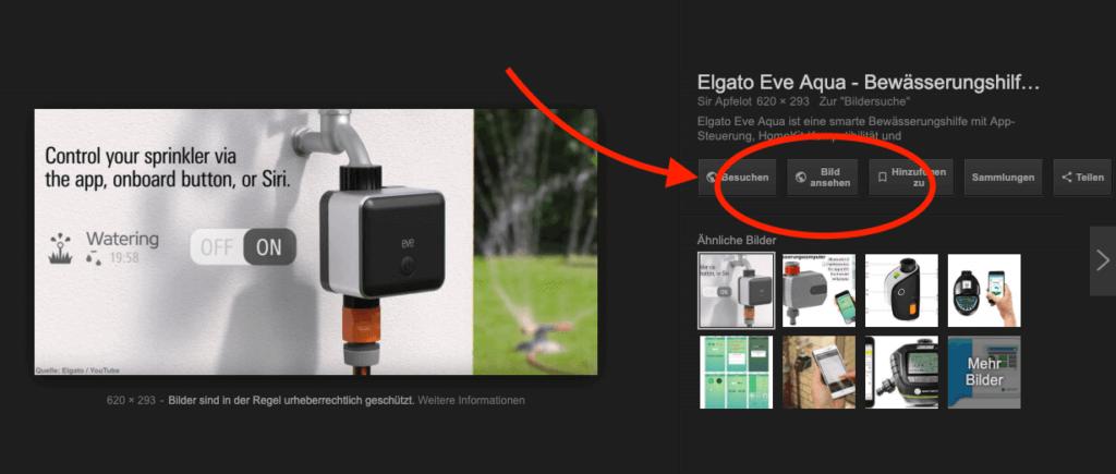 """Dann könnt ihr vermittels ViewImage / View Image den """"Bild anzeigen""""-Button nutzen!"""