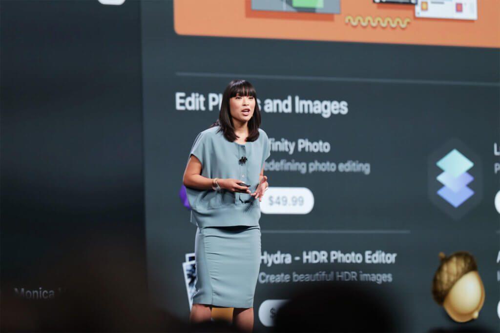 Ann Thai zeigt Design und Inhalte des überarbeiteten Mac App Store. Quelle: Apple