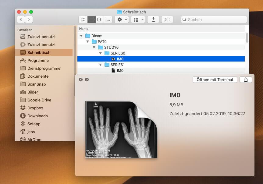 Wurden die IM0-Dateien einmal geöffnet, bekommen sie vom Finder ein Thumbnail zugewiesen.