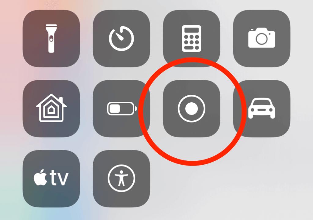 Im Kontrollzentrum findet man den Button, um die Bildschirmaufnahme zu starten.