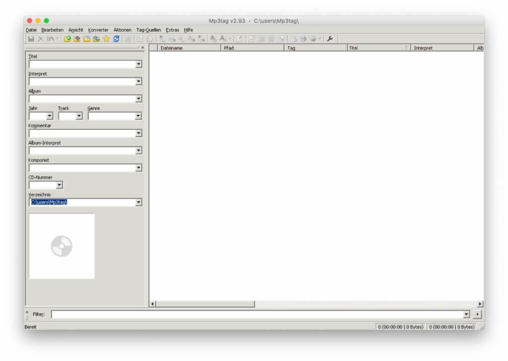 Die App Mp3tag am Mac unter macOS. Durch den implementierten Wine-Emulator könnt ihr den bekannten MP3 Tag Editor abseits von Windows nutzen.