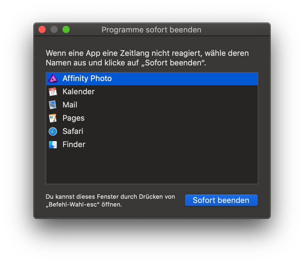 Einen Mac Prozess sofort beenden und damit unter macOS ein hängendes Programm schließen - hier erfahrt ihr wie das geht!