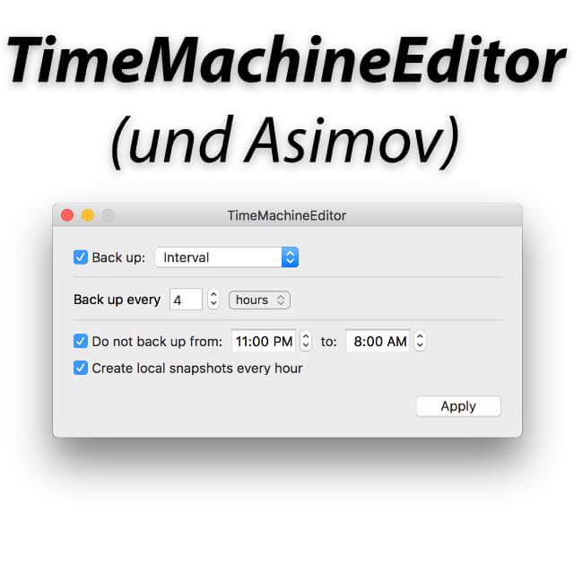 time machine editor