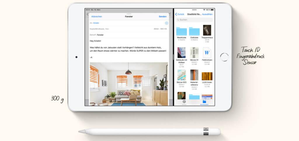 Handlich, leicht und mit iOS 12 bestückt - so habt ihr alle nötigen Apps und Dienste immer dabei. Bild: Apple