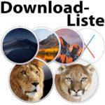 Download-Liste: Installer von alten macOS und OS X Versionen
